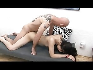 Superb brunette tgirl
