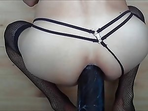 Taking my huge dildo